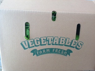 box of fresh organic vegetables