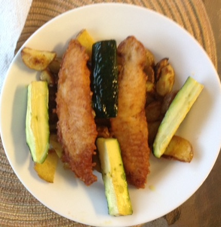 Fish and zucchini