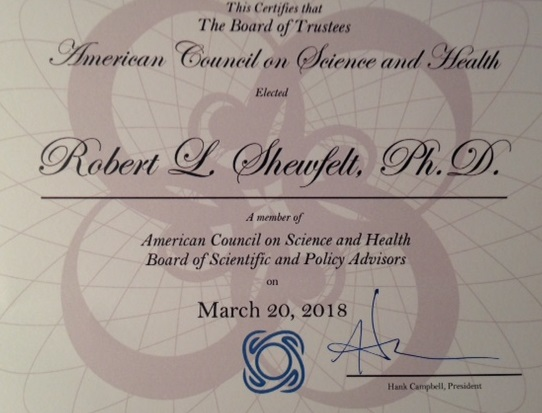 ACSH certificate