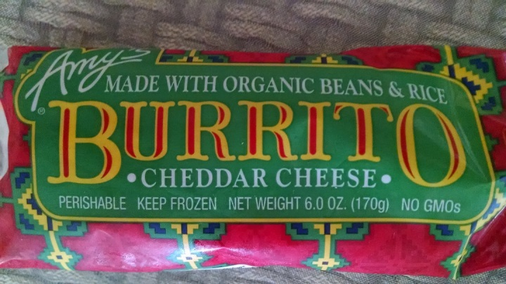 Amy's cheese burrito
