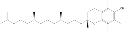 chemical structure of Vitamin E