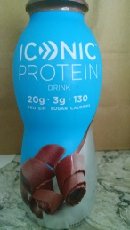 bottle of a high-protein drink