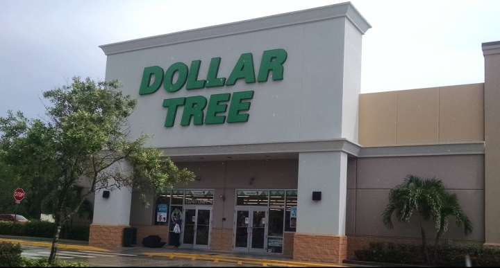 entrance of a dollar store