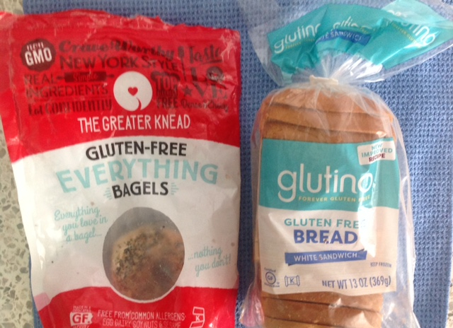 gluten-free everything bagels and gluten-free bread
