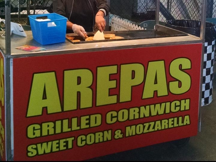 Arepas--grilled cornwich, sweet corn & mozzarella