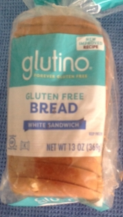loaf of frozen, gluten-free bread