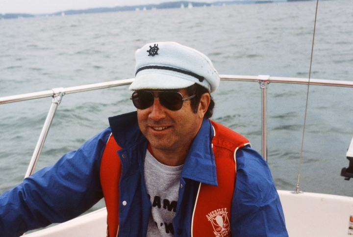 guest author enjoying a cruise complete with sailor hats and shades