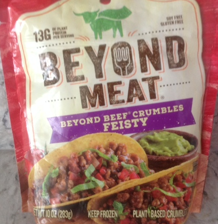 package of Beyond Meat beef crumbles