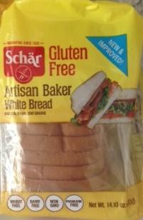 packaged loaf of gluten-free bread