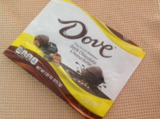 Dove dark chocolate and peanut butter product