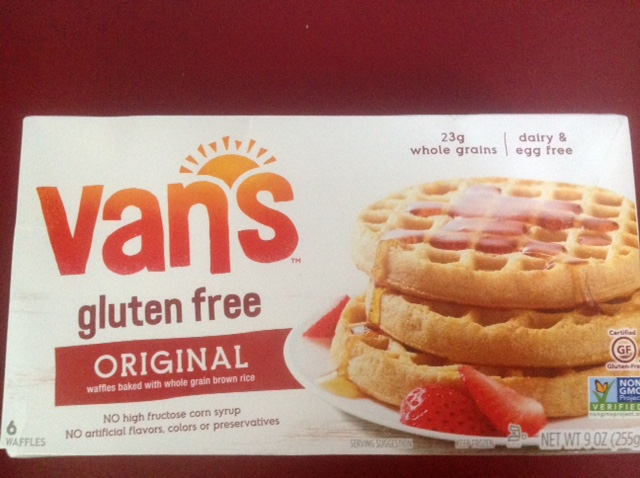 package of gluten-free waffles.