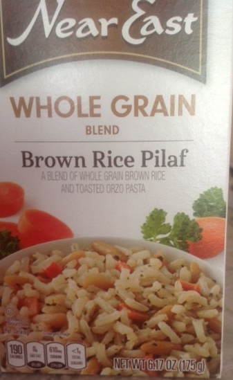 box of whole-grain, brown-rice pilaf