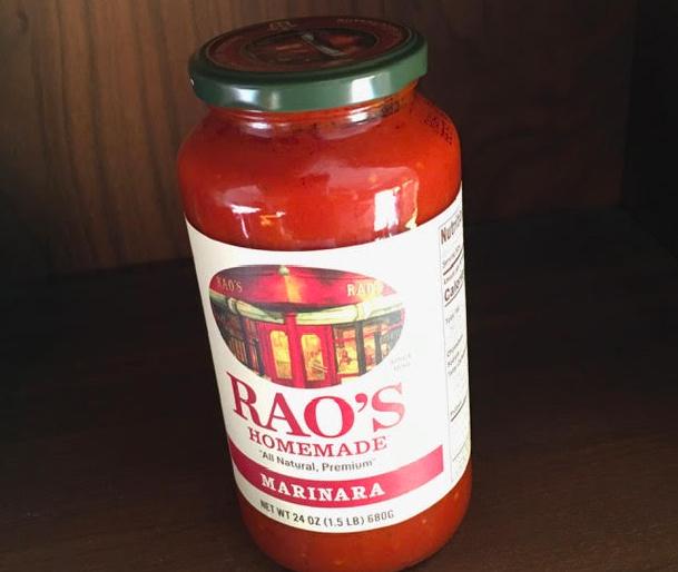 bottle of marinara sauce