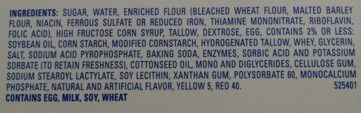 more than 40 ingredients in a Twinkie
