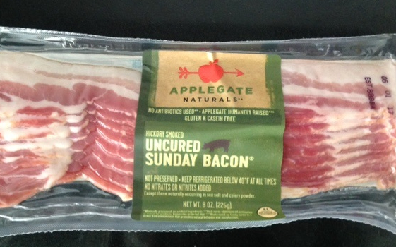 package of uncured Sunday bacon