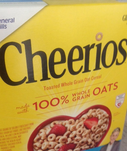 box of Cheerios breakfast cereal
