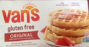 box of fan's gluten free waffles