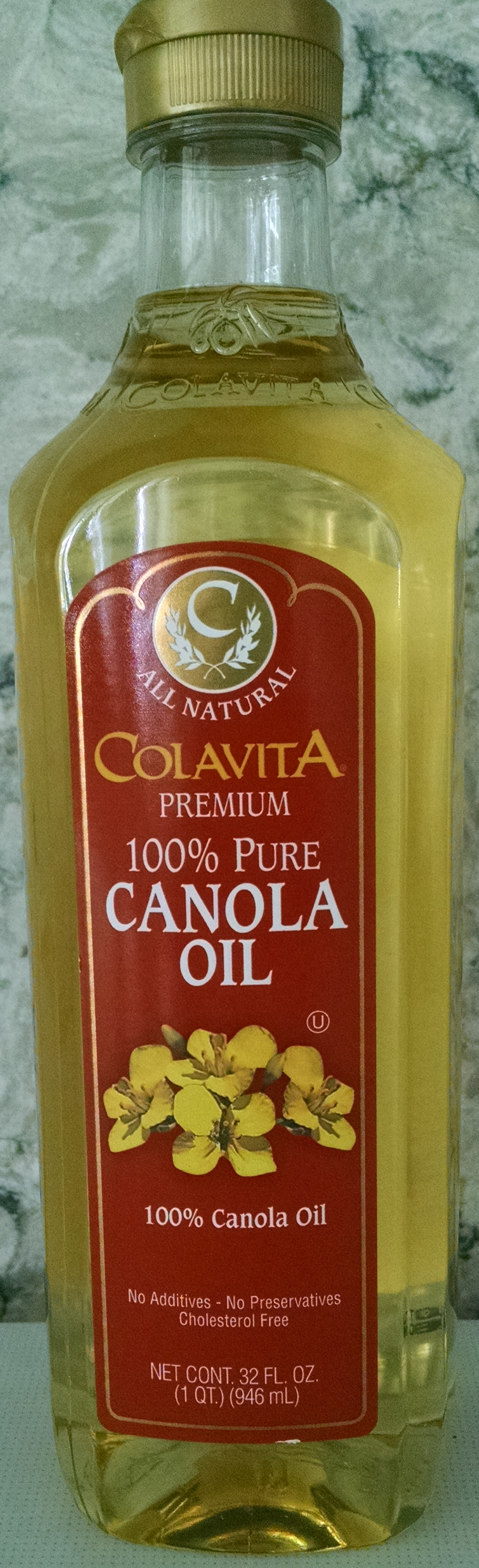 bottle of canola oil