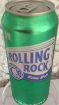 can of Rolling Rock beer