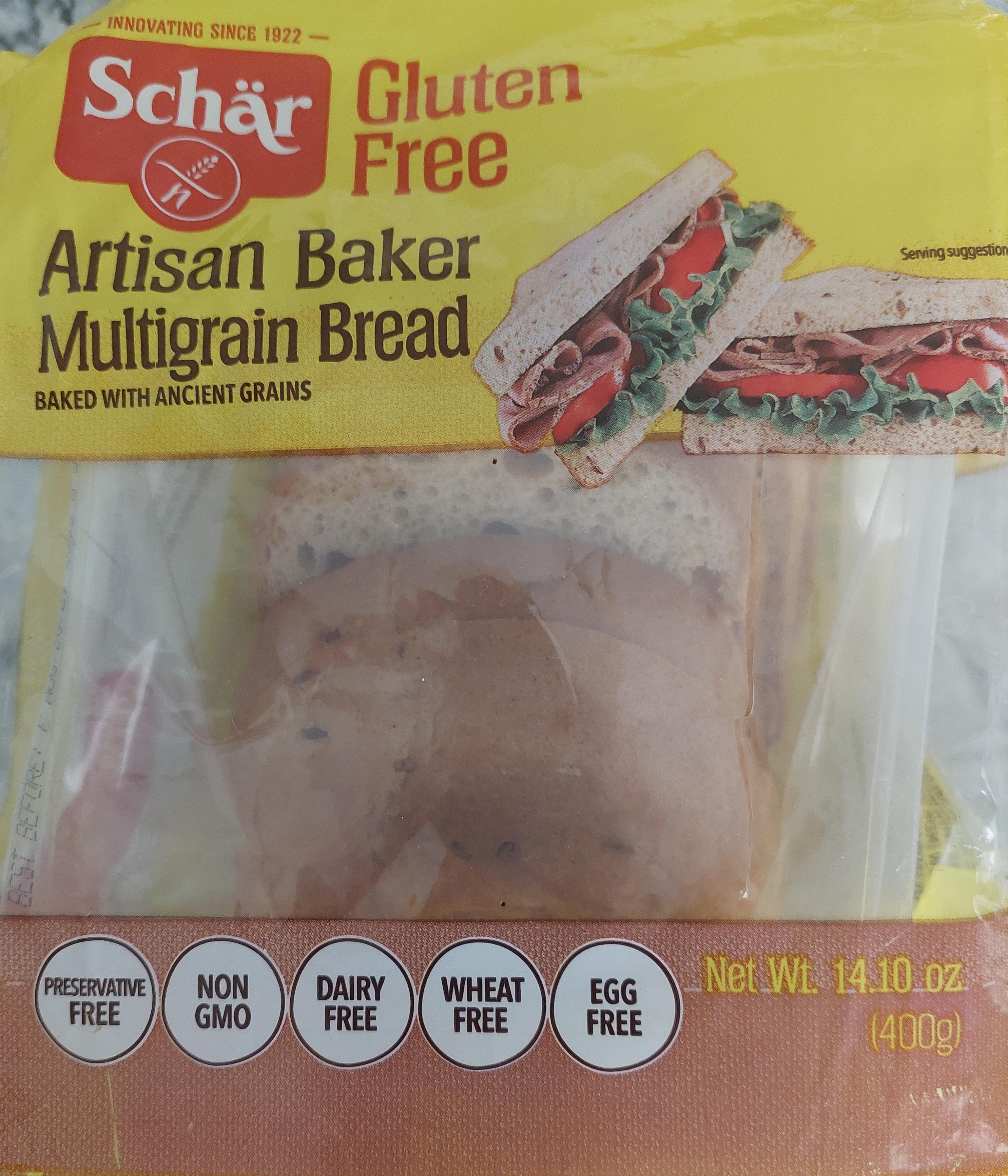 package of gluten free multigrain bread