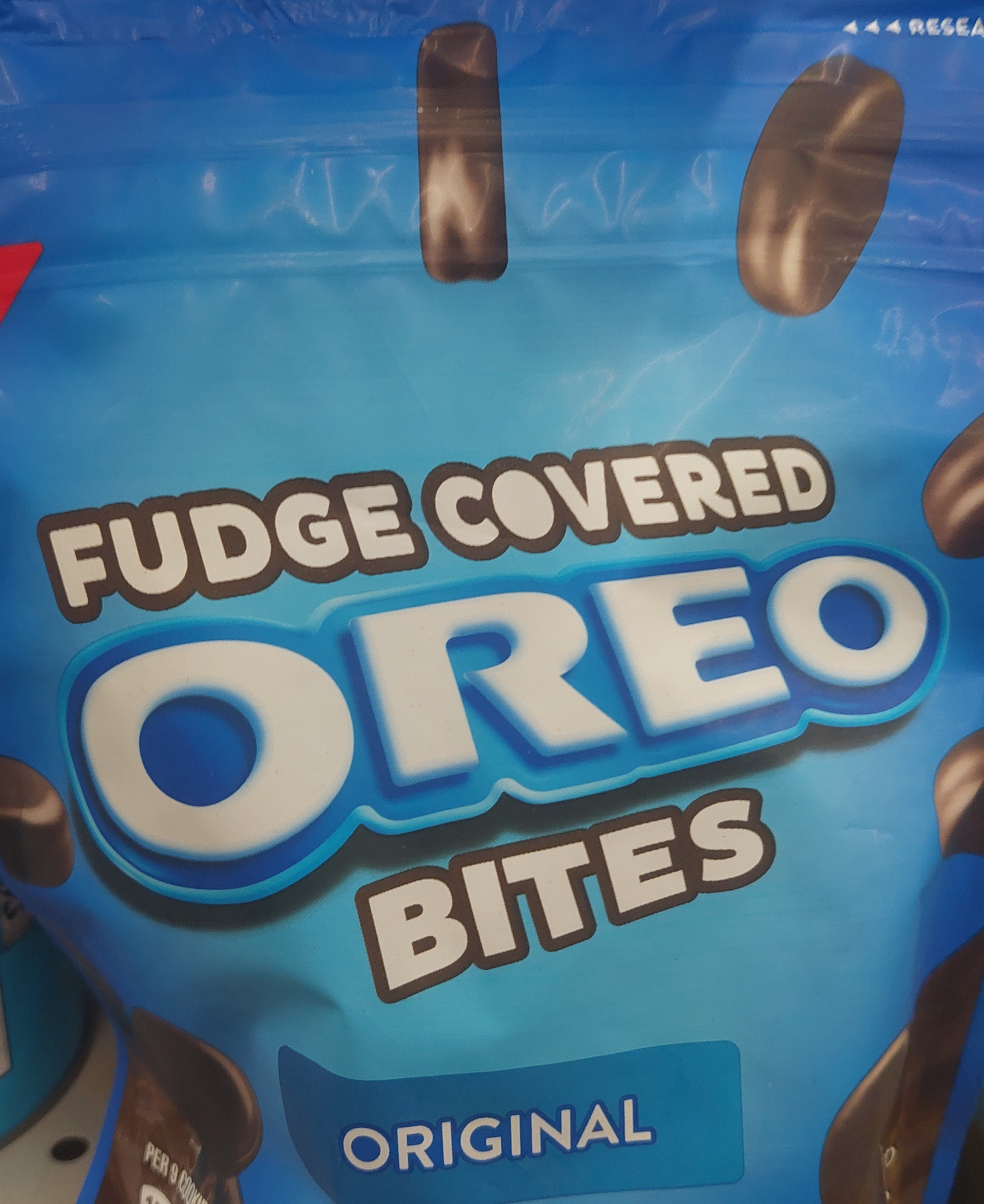 package of Fudge Covered Oreo Bites