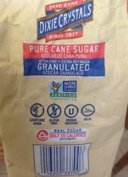 bag of pure, granulated cane sugar