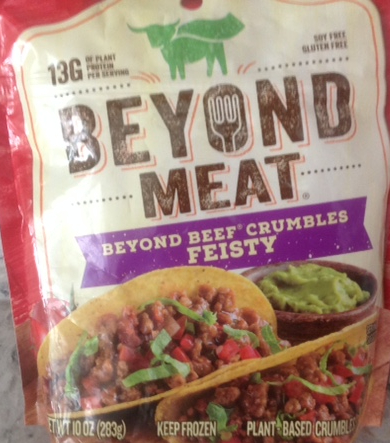 a package of Beyond Meat beefy crumbles